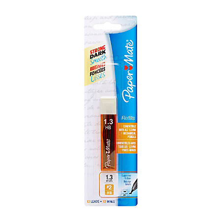 Paper Mate® Mechanical Pencil Lead Refills, 1.3 mm, No. 2 HB, Tube Of 12