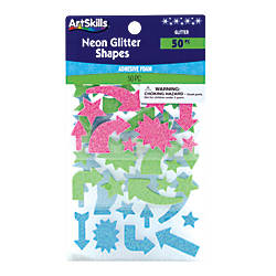 ArtSkills Neon Glitter Shapes Assorted Colors