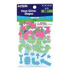 ArtSkills Neon Glitter Shapes Assorted Colors