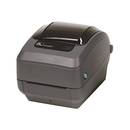 Zebra® Direct Thermal/Thermal Transfer Monochrome Printer, GK420T