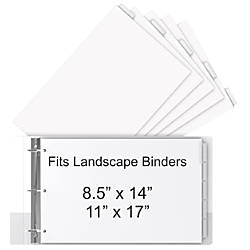 Stride 30percent Recycled Tab Dividers For Ledger And