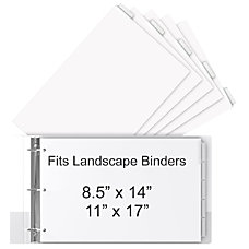 Stride 30percent Recycled Tab Dividers For