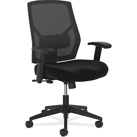 HON® Crio Fabric Mid-Back Task Chair, Black