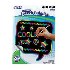 ArtSkills Scratch Off Speech Bubbles 5