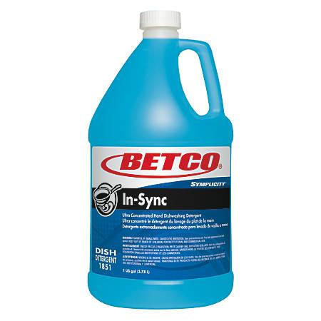 Betco® Symplicity In-Sync Dishwashing Detergent, 128 Oz, Case Of 4