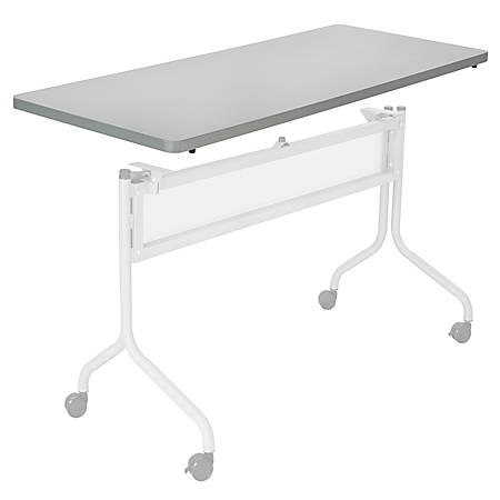 """Safco® Impromptu™ Mobile Training Table Top, Rectangular, 48""""W x 24""""D, Gray (Base Sold Separately)"""