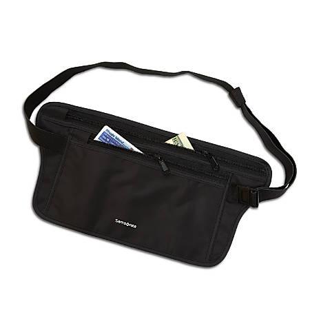 Samsonite® RFID Waist Belt Pouch, Black