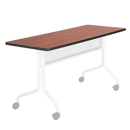 "Safco® Impromptu™ Mobile Training Table Top, Rectangular, 60""W x 24""D, Cherry (Base Sold Separately)"
