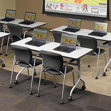 """Safco® Impromptu™ Mobile Training Table Top, Rectangular, 60""""W x 24""""D, Gray (Base Sold Separately)"""