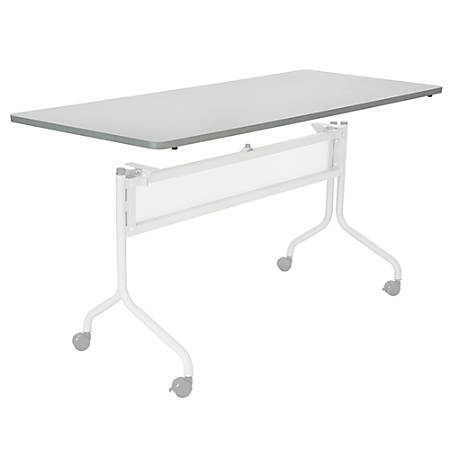"""Safco® Impromptu™ Mobile Training Table Top, Rectangular, 72""""W x 24""""D, Gray (Base Sold Separately)"""
