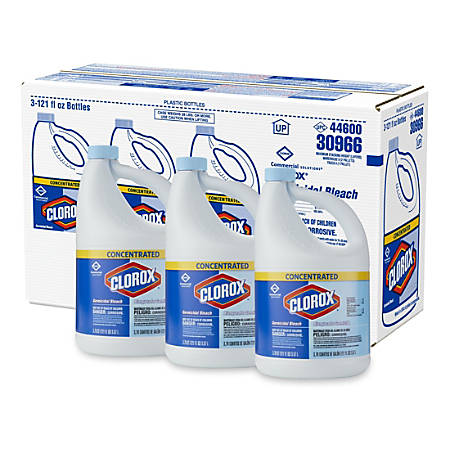 Clorox Ultra Germicidal Bleach, 121 Oz, Case Of 3 Bottles