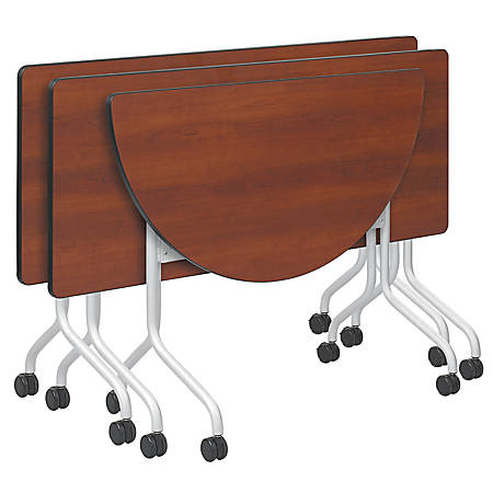 """Safco® Impromptu™ Mobile Training Table Top, Half-Round, 48""""W x 24""""D, Cherry (Base Sold Separately)"""
