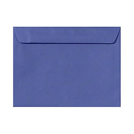 "LUX Booklet Envelopes With Moisture Closure, #9 1/2, 9"" x 12"", Boardwalk Blue, Pack Of 500"
