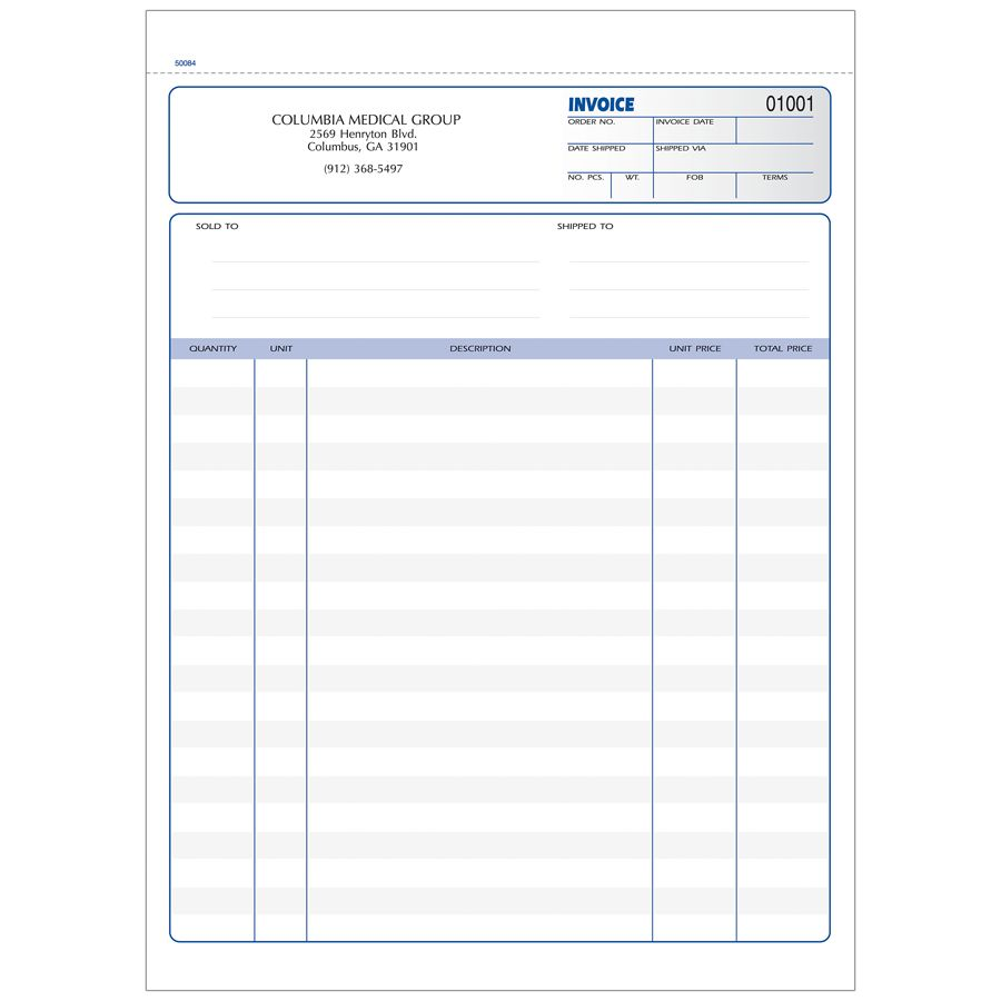 Invoice Forms Ruled 3 Part 8 12 x 11 Box Of 250 by Office Depot