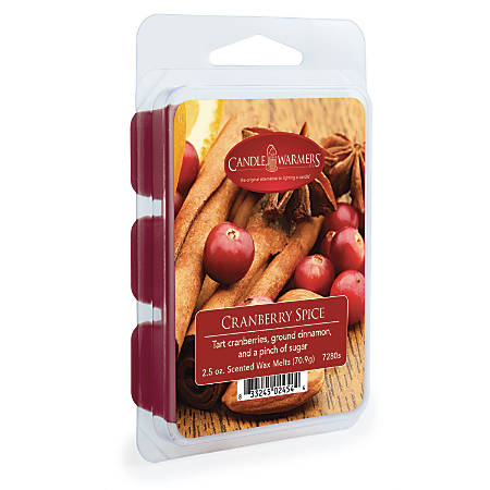 Candle Warmers Etc Wax Melts, Cranberry Spice, 2.5 Oz, Case Of 4 Packs