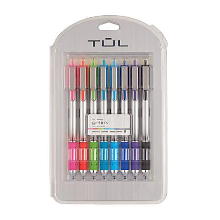 tul retractable gel pens needle point 0 5 mm gray barrel assorted
