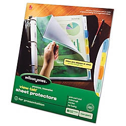 Wilson Jones View Tab Sheet Protectors