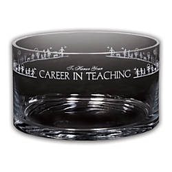 Career In Teaching Petite Crystal Bowl