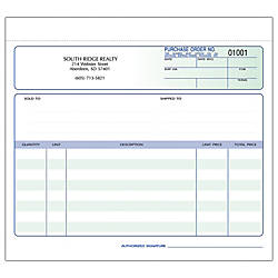 Purchase Order Forms Ruled 3 Part