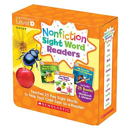 Scholastic Teacher Resources Nonfiction Sight Word Readers Parent Pack, Level D, Pre-K To 1st Grade