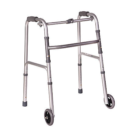 DMI® Adjustable Aluminum Folding Lightweight Walker, Adult, Silver