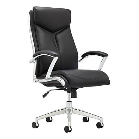 Realspace Verismo Chair Blackchrome Office Depot