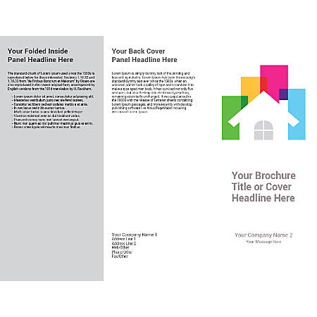 Customizable Trifold Brochure, White House