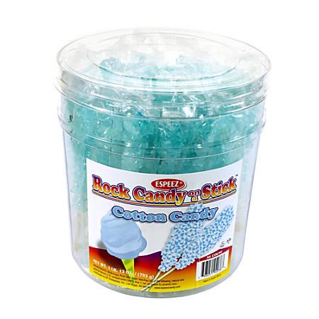 """Espeez Rock Candy Sticks, 7"""", Light Blue, Pack Of 36"""