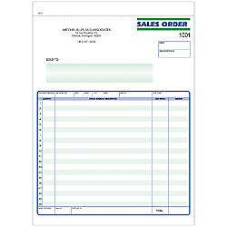 Sales Order Forms Ruled 2 Part