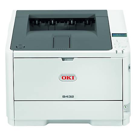 Oki B432dn LED Printer - Monochrome - 1200 x 1200 dpi Print - Plain Paper Print - Desktop