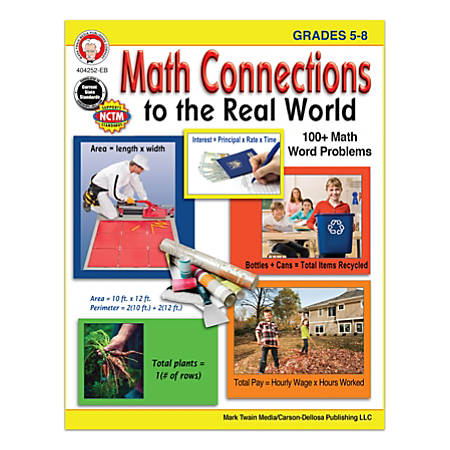 Mark Twain Media Math Connections To The Real World, Grades 5-8