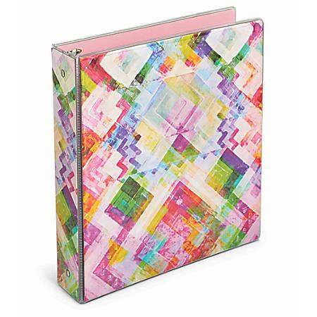 """Office Depot® Brand Fashion Binder, 1"""" Rings, Kaleidoscope"""