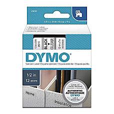 DYMO D1 Standard Labels Tape Black