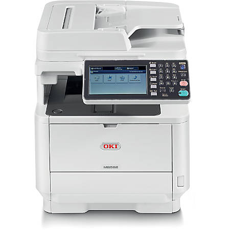 OKI® Multifunction LED Wireless Monochrome All-In-One Printer, Copier, Scanner, Fax, MB562W