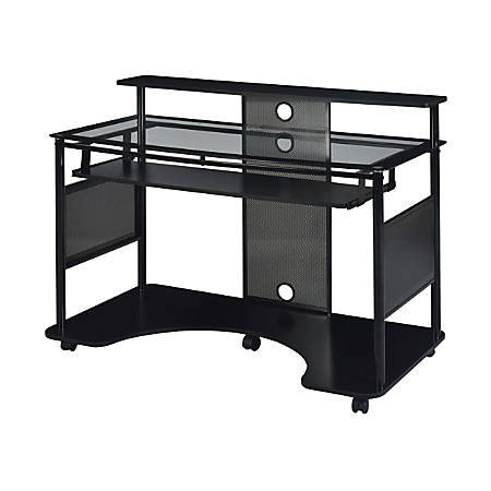 Z Line Designs Mobile Workstation Desk Black Office Depot