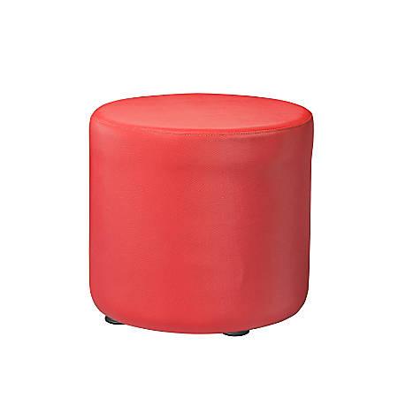 """Marco Round Seating Ottoman, 18""""H, Tomato"""