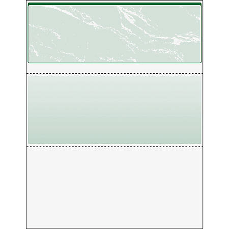 "DocuGard High Security Green Marble Business Checks with 11 Features to Prevent Fraud - Letter - 8 1/2"" x 11"" - 24 lb Basis Weight - 500 / Ream - Marble Green"