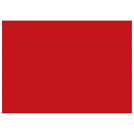 """Tape Logic® Write™On Inventory Labels, DL639A, Rectangle, 5"""" x 7"""", Red, Roll Of 500"""