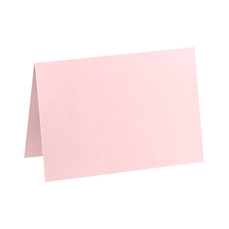 "LUX Folded Cards, A6, 4 5/8"" x 6 1/4"", Candy Pink, Pack Of 50"