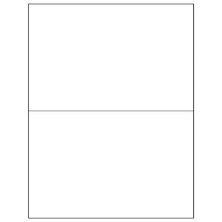 """Office Depot® Brand Weather-Resistant Laser Labels, LL255WR, 8 1/2"""" x 5 1/2"""", White, Case Of 200"""