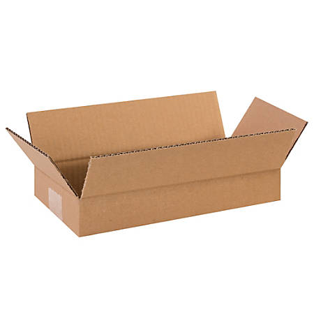 """Office Depot® Brand Corrugated Boxes, Flat, 2""""H x 6""""W x 14""""D, Kraft, Pack Of 25"""
