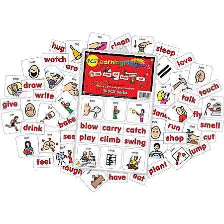 Barker Creek® Magnets, Learning Magnets®, PCS® Verbs Set, Grades Pre-K+, Pack Of 180