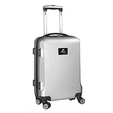 """Denco Sports Luggage Rolling Carry-On Hard Case, 20"""" x 9"""" x 13 1/2"""", Silver, Purdue Boilermakers"""