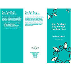 Customizable Trifold Brochure Teal Floral