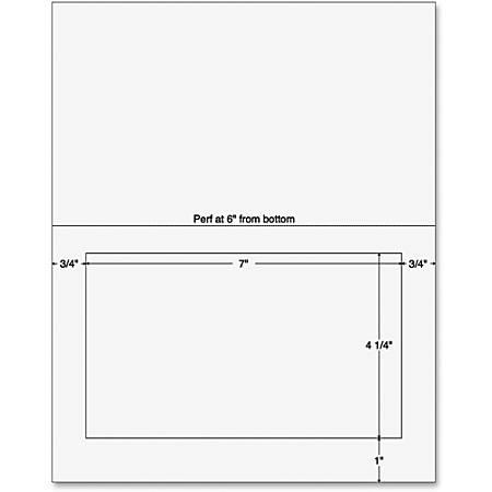 "Sparco Laser, SPR99595, Inkjet Print Integrated Label Form, 7"" x 4 1/4"", Pack Of 250, White"
