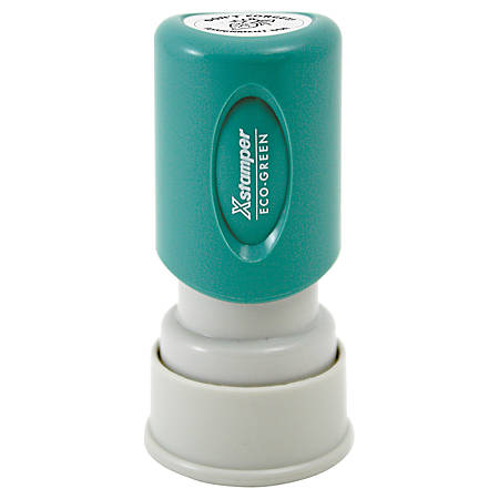 "ECO-GREEN Xstamper® Pre-Inked Small Stamp, N32 Round, 68% Recycled, 5/8"" Diameter Impression"