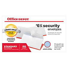 Office Depot Brand Clean Seal Security