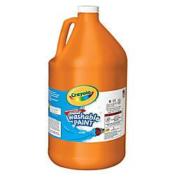 Crayola Washable Paint Orange Gallon