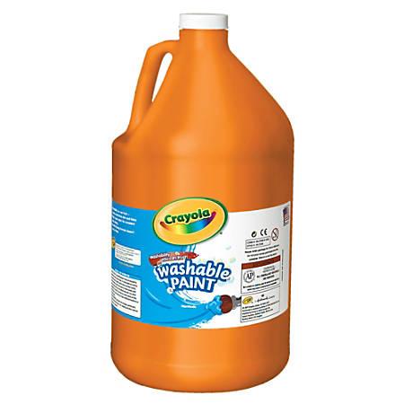 Crayola® Washable Paint, Orange, Gallon