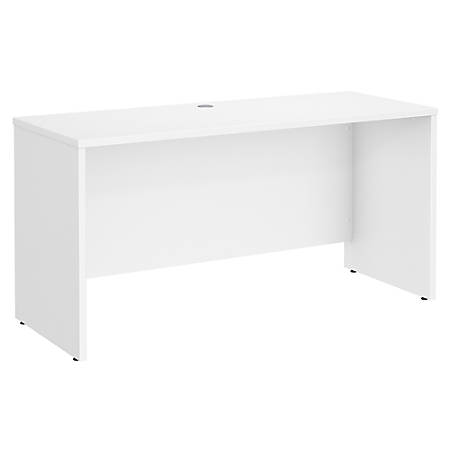 "Bush Business Furniture Studio C Credenza Desk, 60""W x 24""D, White, Premium Installation"